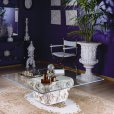 Renato Costa, auxiliary luxury furniture from Spain, consoles made of stone and marble, baroque corner and center tables, classic auxiliary of stone
