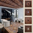 Alpujarreñas, manufacturing of rustic style coffered ceiling in Spain, classic rustic coffered ceiling from Spain